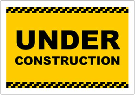 under construction sign template excel templates free download