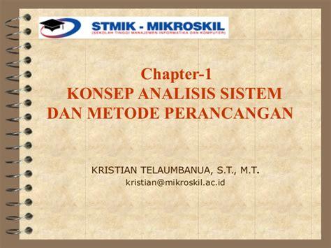 Analisis Dan Perancangan Fondasi 1 Edisi 3 Hary Christady konsep dasar analisis perancangan sistem