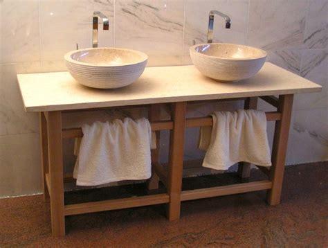 rustikale badezimmer entwurfs ideen waschtisch holz rustikal ihr traumhaus ideen
