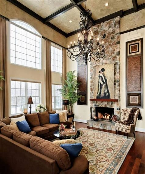 High Ceiling Living Room 10 Fascinating High Ceiling Living Rooms With Chandelier Rilane