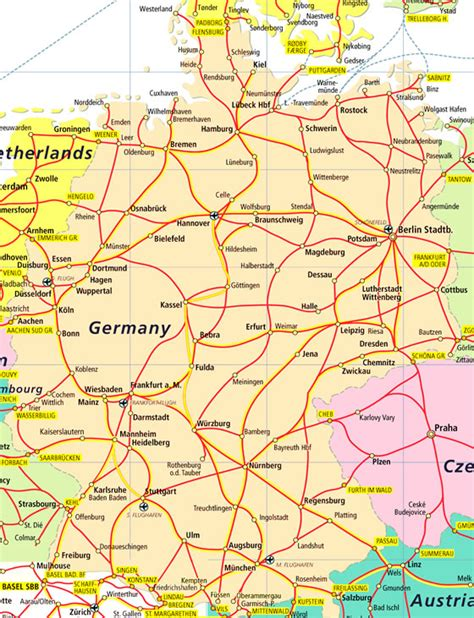 trains germany map german rail pass flexi rail plus australia