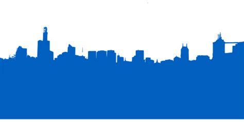 skyline city blue  vector graphic  pixabay