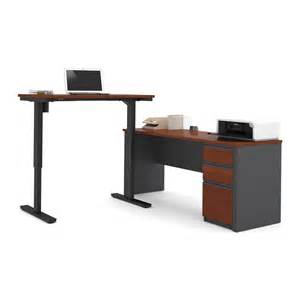 Table L Set Bestar 9988 Prestige L Desk Electric Height Adjustable