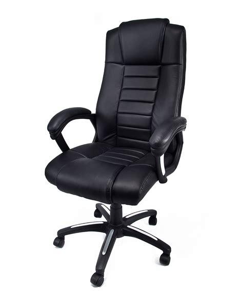 sedie ufficio ebay poltrona in eco pelle nera da ufficio presidenziale