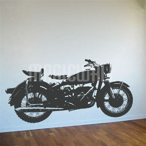 motorcycle wall stickers wall decals vintage bike motorcycle magic wall
