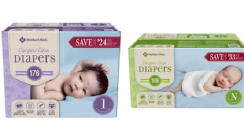 comfort nursing newborn free member s mark comfort care baby diapers or training pants