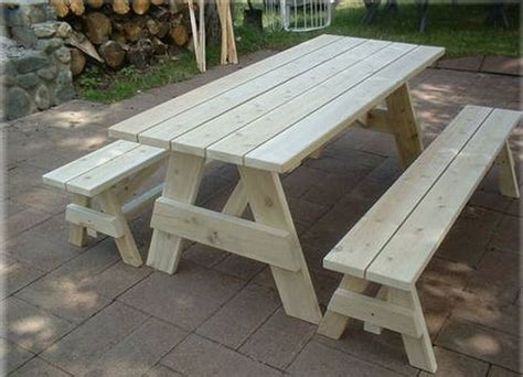 picnic table plans with separate benches 1000 ideas about wooden picnic tables on pinterest