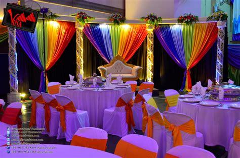 c theme decorations vina canopy decor rainbow color concept wedding dinner