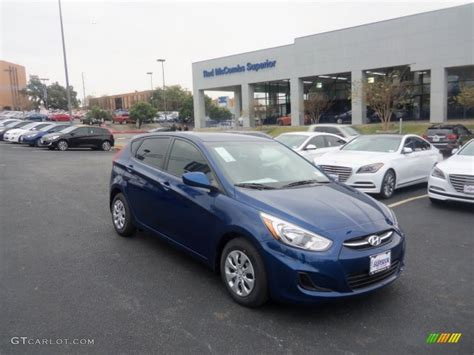 Blue Hyundai Accent by 2016 Pacific Blue Hyundai Accent Se Hatchback 109872415
