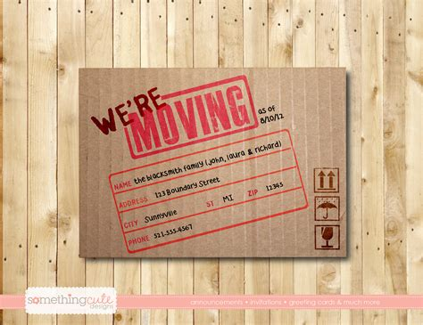 business moving cards templates vintage concept we re moving postcards brown color