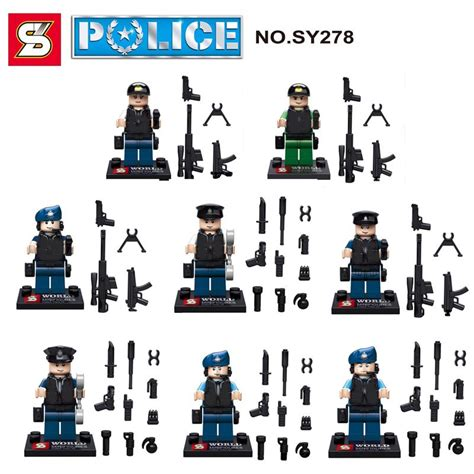 Mini Figures Swat Sy By Hobijepang swat lego al por mayor de alta calidad de china