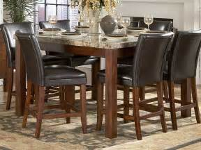 achillea counter height dining table marble