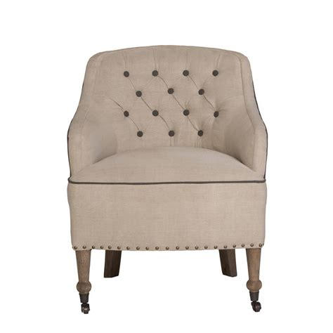 Button Back Armchair by Florence Button Back Linen Armchair By Atkin And Thyme