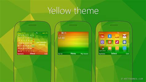 Yellow Themes For Nokia C3 | yellow theme c3 00 x2 01 asha 205 210 200 201 302