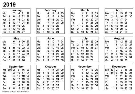 Weekly Calendar 2019 Calendar Template Excel 2019 Calendar Template Excel