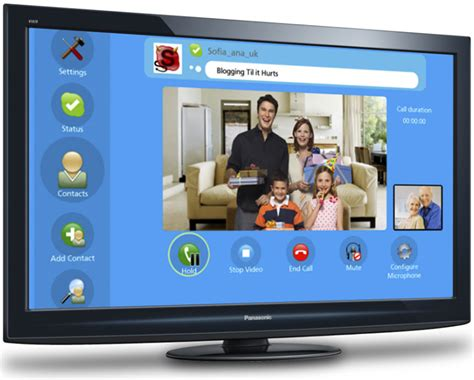 skype tv skype brings chat to flat screen tvs it