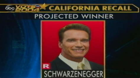 Arnold Schwarzenegger Is Re Elected by Oct 7 2003 Arnold Schwarzenegger Elected Abc News