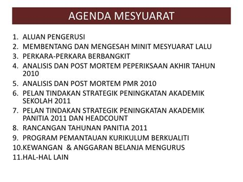 mesyuarat jawatankuasa kurikulum pertama 2011