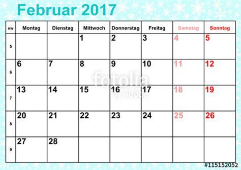 quot kalender 2017 monat februar mit feiertagen f 252 r