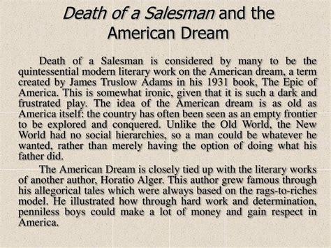 death of a salesman money theme ppt death of a salesman arthur miller powerpoint