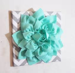 mint colored flowers large mint green flower wall hanging flower wall decor