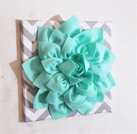 green wall decor large mint green flower wall hanging flower wall decor