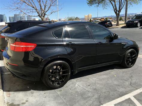 Black View 1 Black bmw x6 x6m m510 matte black wheels 1