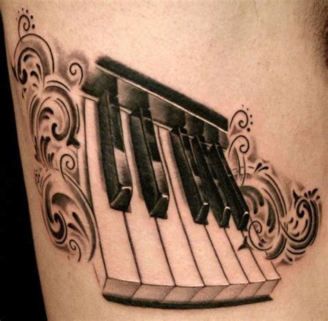 piano key tattoo designs piano tattoos and designs page 23