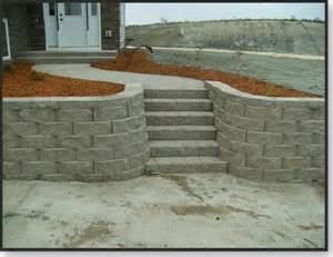 Retaining Wall Stairs Design David Monson Landscaping