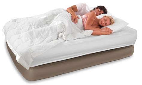 comfort bed intex raised queen comfort air mattress