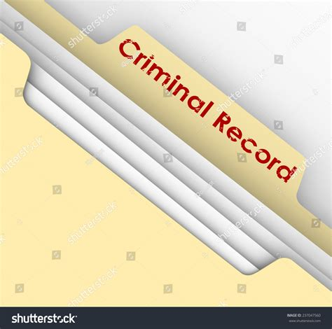 What S My Criminal Record Criminal Record Words On Manila File Stock Illustration 237047560