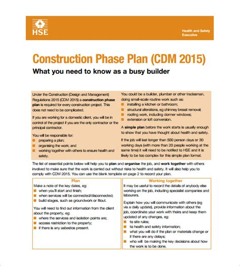 Health And Safety Plan Templates 10 Free Word Pdf Documents Download Free Premium Templates Construction Safety Policy Template