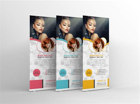 desingn by rolling some hair hair salon roll up banner design on behance