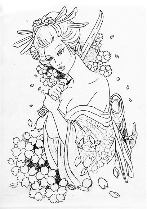 tattoo flash pages 187 best images about geisha on pinterest kimonos