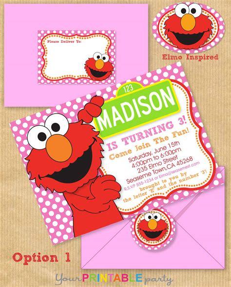 elmo card templates elmo invitations invitations templates