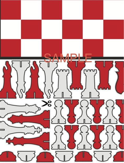 How To Make A Paper Chess Set - chess sets print play chess set