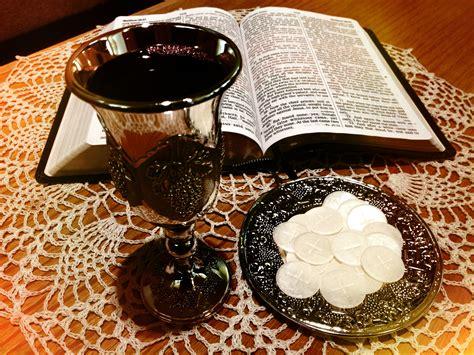 church communion table