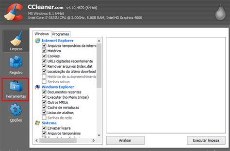 ccleaner que é isso tutorial como desinstalar programas com o ccleaner