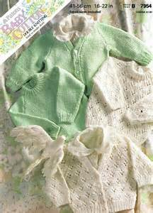 Patons 7954 baby cardigan vintage knitting pattern by ellisadine 163 1