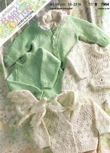 Patons 7954 baby cardigan vintage knitting pattern by ellisadine 163 1