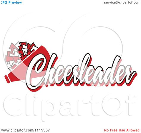 megaphone clipart clipart text with a pom pom and megaphone