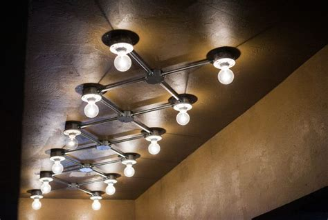 exposed conduit ceiling lights lighting industrial