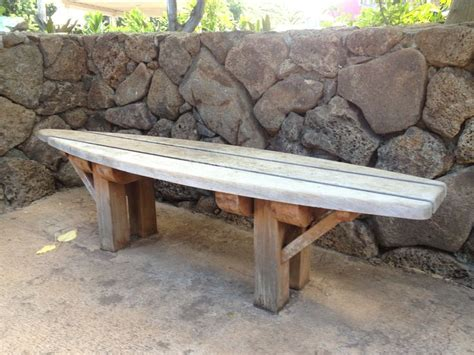 surfboard bench surfboard bench decorating polynesian style pinterest