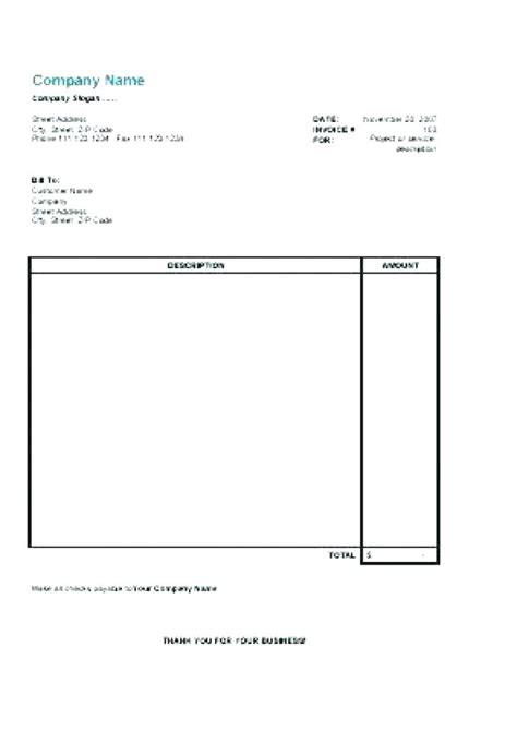 google drive invoice template google docs invoice