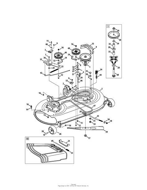 deck diagram mtd 13aj775s000 2011 parts diagram for mower deck 42 inch