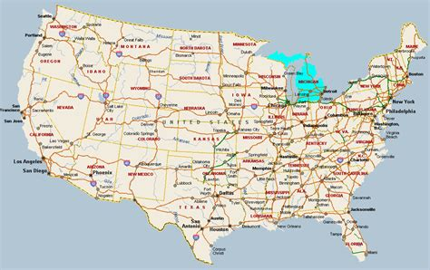 america map michigan fitzy s web site travel united states of america