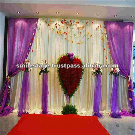 Wedding Background Decorations by Wedding Decoration With White Background Curtain