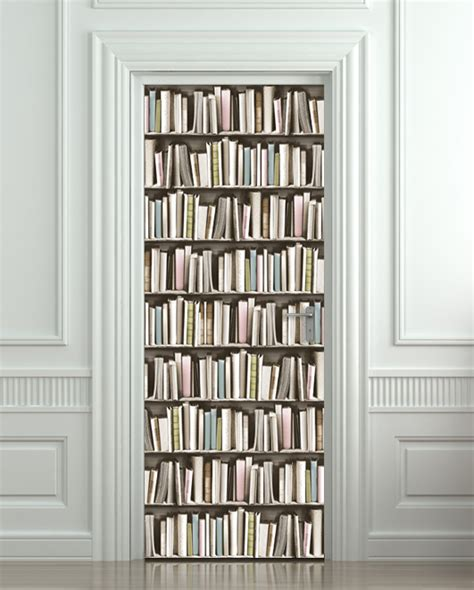 Door sticker book pastel library cabinet strapper box mural decole film self adhesive poster