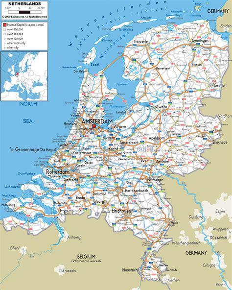 map  netherlands kingdom   netherlands maps