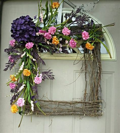 Square Wreaths For Front Door Best 25 Square Wreath Ideas On Burlap Wreaths Diy Wreaths And